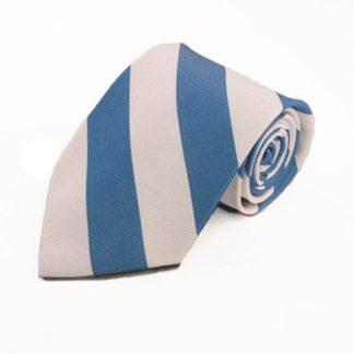 White & Blue Wide Striped Men's Tie 2188-0