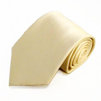 Beige Solid Men's Tie w/ Pocket Square 4184