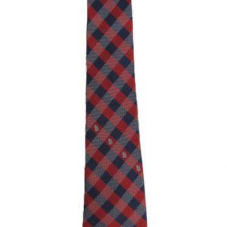 Red & Blue Checkered MLB St. Louis Cardinals Men's Tie 4338-0
