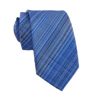 Blue Basket Weave Skinny Men's Tie 4917-0