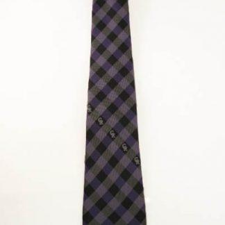 Purple & Black Checkered MLB Colorado Rockies Men's Tie 7752-0