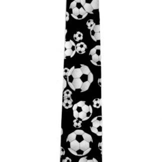Black w/ Soccer Balls Novelty Men's Tie 8284-0