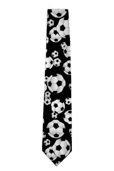 Black w/ Soccer Balls Novelty Men's Tie 8284-0