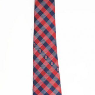 Red & Blue Checkered MLB Boston Red Socks Men's Tie 8928-0