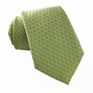 "49"" Green Tone on Tone w/ Black Dot Boy's Tie 10881-0"
