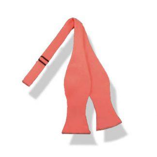 Bright Coral Self Tie Bow Tie 10889