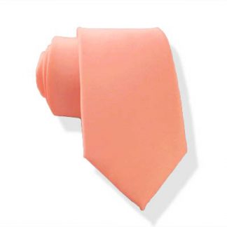 Bright Coral Men's Skinny Tie 9917-0