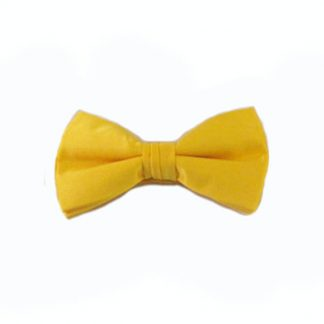 Bright Yellow Solid Clip-On Bow Tie 11244-0
