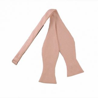 Pale Pink Self Tie Bow Tie