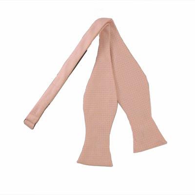 Pale Pink Self Tie Bow Tie