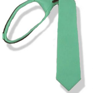 "11"" Boy's Tiffany Blue Zipper Tie 1361"