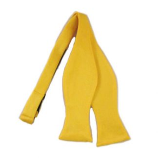 Bright Yellow Solid Self Tie Bow Tie 3662-0