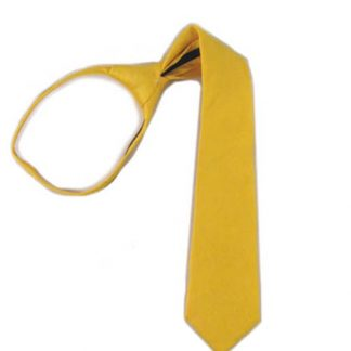 "21"" Bright Yellow Solid Zipper Men's Tie 8752-0"