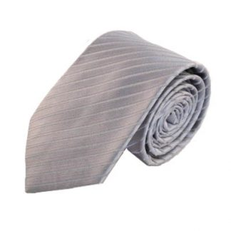 "63"" XL Silver Tone on Tone Striped Men's Tie 9108-0"