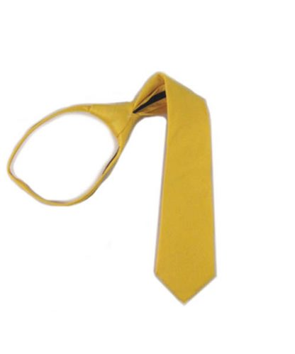 "14"" Bright Yellow Solid Zipper Boy's Tie 9854-0"