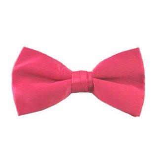 Fuchsia Solid Clip Bow Tie 10030-0