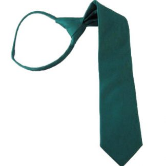 "11"" Solid Jade Boy's Zipper Tie 10394"