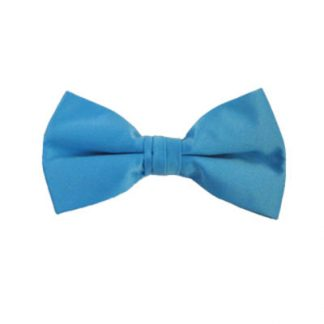 Solid Turquoise Clip On Bow Tie 11451