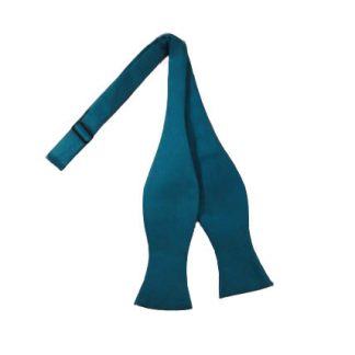 Solid Teal Self Tie Bow Tie 3964