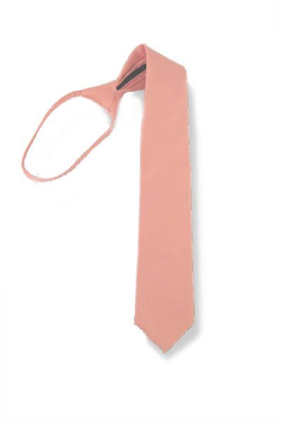 "17"" Light Peach Solid Zipper Boy's Tie 4022-0"