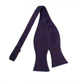 Solid Dark Purple Self Tie Bow Tie 4914
