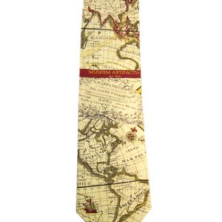 World Globe Map Silk Men's Tie 5052-0