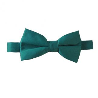 Solid Jade Banded Bow Tie 5079