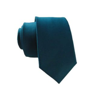 Solid Teal Men's Skinny Tie 5178