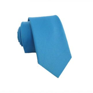 """49"""" Solid Turquoise Boy's Tie 5725"""