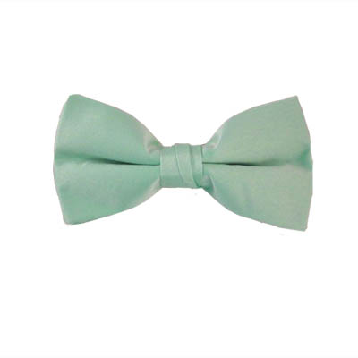 Solid Mint Clip On Bow Tie 6449