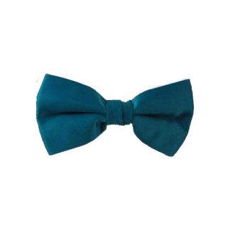 Solid Teal Clip On Bow Tie 7730