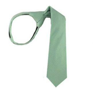 "17"" Mint Tone on Tone Boy's Zipper Tie 8968"