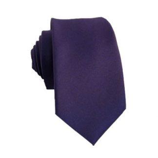 """49"""" Boy's Solid Dark Purple Tie 9357"""