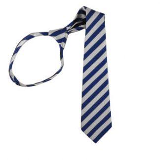"""17"""" Roy & Silver Striped Boy's Zipper Tie 4717"""