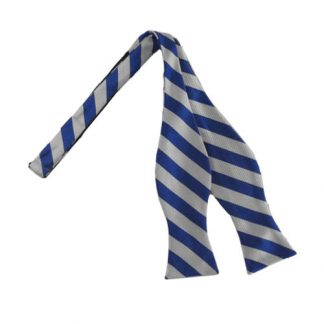 Roy & Silver Striped Self Tie Bow Tie 8977