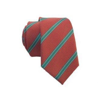 Skinny Salmon & Turquoise Men's Tie 6057-0