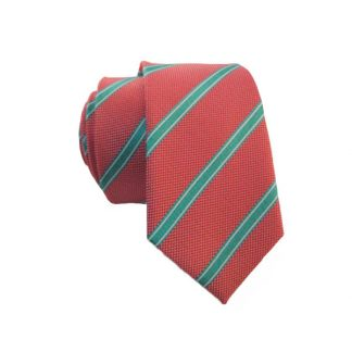 """49"""" Salmon & Turquoise Boy's Tie"""