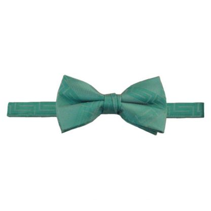 Seafoam Green Aztec Tone on Tone Banded Bow Tie 1127