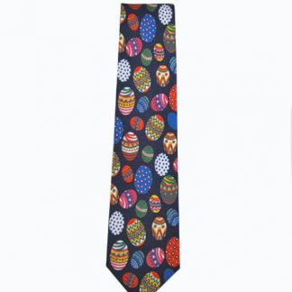 Easter Eggs Navy Men's Tie 7732-0