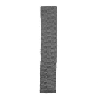 Gray Solid Knit Men's Tie 1036