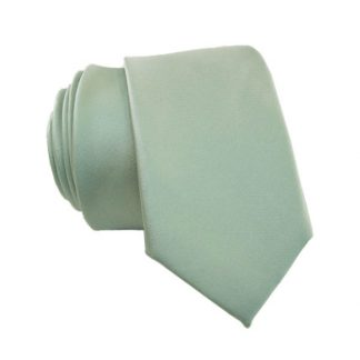 Mint Solid Skinny Men's Tie w/ Pocket Square 10949