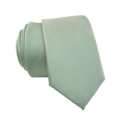 Mint Solid Skinny Men's Tie w/ Pocket Square 10949