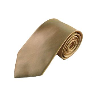 "63"" XL Solid Gold Silk Woven Men's Tie 4403"