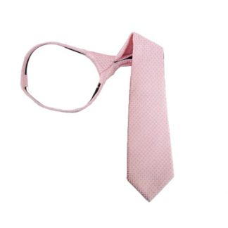 "11"" Pink Small Diamond Boy's Zipper Tie 5367"