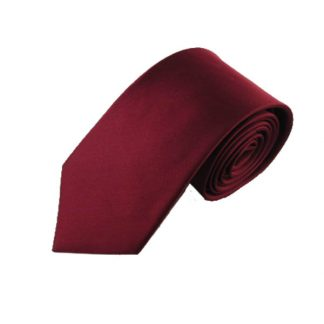 "63"" XL Burgundy Silk Woven Men's Tie 6017"