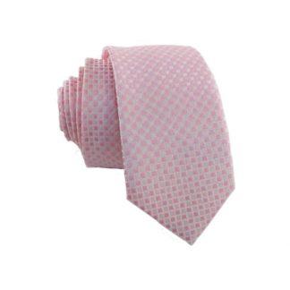 Pink Small Diamond Men's Skinny Tie 7001
