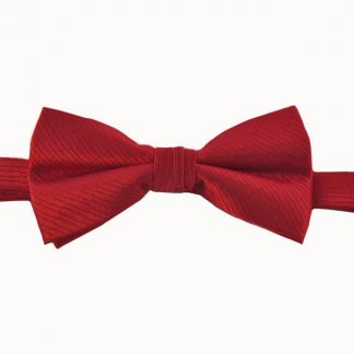 Red Solid T/T Banded Bow Tie 7787-0