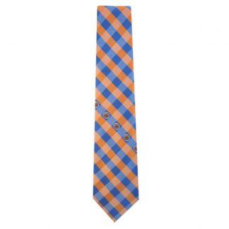 NBA New York Knicks Orange & Blue Checkered Men's Tie 10545