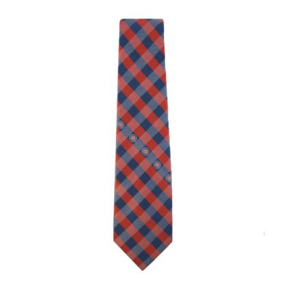 MLB Chicago Cubs Red & Blue Checkered Men's Tie 1609