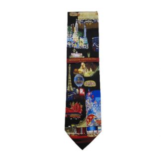 Las Vegas Lights at Night Men's Silk Tie 4929